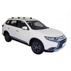 Roof Racks - Yakima Whispbars for Mitsubishi Outlander 2013-> with flush rails