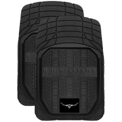 RM WILLIAMS RMW RUBBER FRONT MATS BLACK SET OF 2