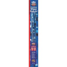WIPER BLADES - 22 INCH PAIR - FULL ASSEMBLY