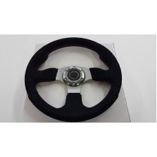 STEERING WHEEL - FLAT SUEDE - RACING