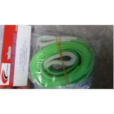 VEHICLE TOW STRAP FLOURO GREEN 5000KG BREAKING STRAIN