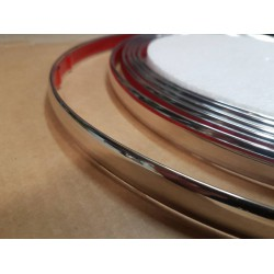 D Section Chrome Molding 19mm - 5 Meters