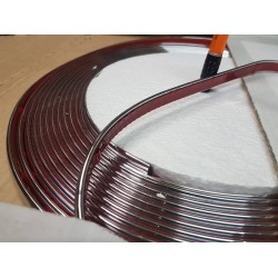D Section Chrome Molding 15mm - 13 Meters