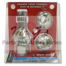TROJAN DUO-BALL MULT FIT TOW BALL - 50MM & 1 7/8""