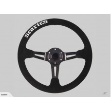 STEERING WHEEL SUEDE DRIFT 350MM - SCARLES