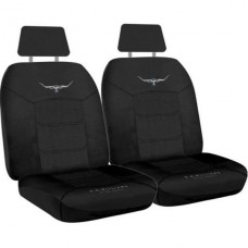 RM WILLIAMS  JACQUARD SEAT COVERS BLACK SIZE 30