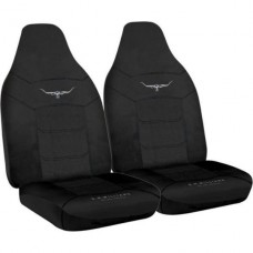 RM WILLIAMS JACQUARD SEAT COVERS BLACK SIZE 60 PAIR SEAT COVERS
