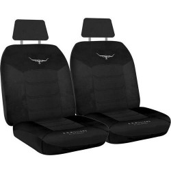 RM WILLIAMS RMW MESH SEAT COVERS BLACK SIZE 30 (seperate headrests)