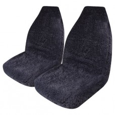 SEAT COVERS MINKFUR CHARCOAL FRONT SEAT COVER PAIR