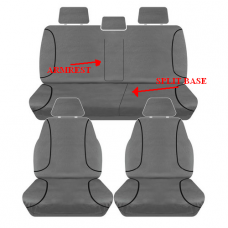 SEAT COVERS D MAX TF DUAL CAB 2012 ON- TRADIES