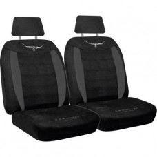 RM WILLIAMS RMW VELOUR SEAT COVERS BLACK SIZE 30 (seperate headrests )