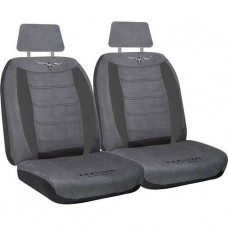 RM WILLIAMS RMW VELOUR SEAT COVERS GREY SIZE 30 (seperate headrests)