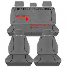 SEAT COVERS TOYOTA HILUX DUAL CAB 11/2015 ON- WITH ARMREST