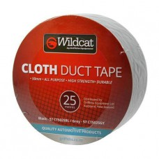WILDCAT - CLOTH TAPE 50MM X 25M BLACK