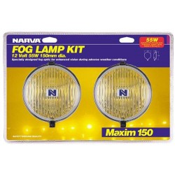 NARVA MAXIM 150 ROUND YELLOW FOG KIT (PAIR)