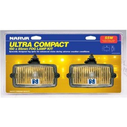 NARVA ULTRA COMPACT YELLOW FOG LAMP KIT (PAIR)