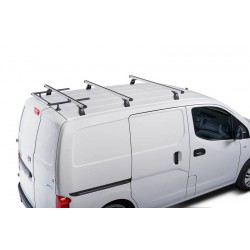 Nissan NV200 Roof Racks 3 Aluminium Bars, 6 Eye Bolts and 60CM Roller - CRUZ