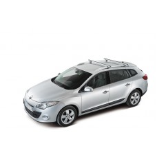 924-038 ROOF RACKS FOR CARS WITH SIDE RAILS - ALUMINIUM BARS 133CM  - CRUZ