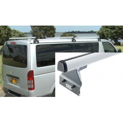 933-071 & 924-092 TRADE RACKS – CRUZ ROOF RACKS – 1 X 1. 48M ALU BAR  & 110MM HIGH SUPPORTS