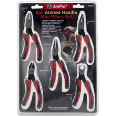 AmPro - Mini Pliers Set - Arched Handle - 5pc