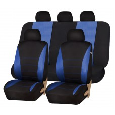 CAR SEAT COVERS - BLACK AND BLUE