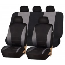 CAR SEAT COVERS - BLACK AND GREY