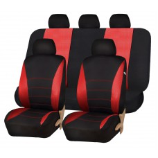 CAR SEAT COVERS - BLACK AND RED
