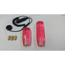 BUBBLE SHIFT KNOB 10CM PINK - FREE LED UNIT