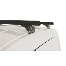 ROOF RACK - HOLDEN COMBO XC 2 DOOR VAN 2002-> RHINO HEAVY DUTY BLACK 2 BARS