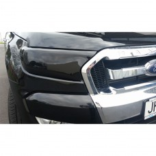 FORD RANGER 2015 on  HEADLIGHT COVERS - TINTED