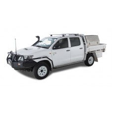 Rhino Rack - Silver Vortex Roof Racks - for TOYOTA Hilux 04/05 to 09/15