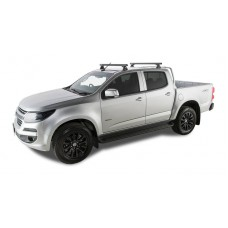 Rhino Rack - Black Heavy Duty Roof Racks - HOLDEN Colorado C/Cab 06/12 to 08/19