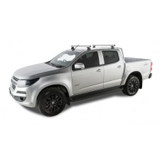 Rhino Rack - Silver Heavy Duty Roof Racks - HOLDEN Colorado C/Cab 06/12 to 09/19
