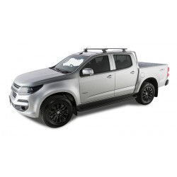 Rhino Rack - Black Vortex Roof Racks - HOLDEN Colorado Crew Cab 06/12 On