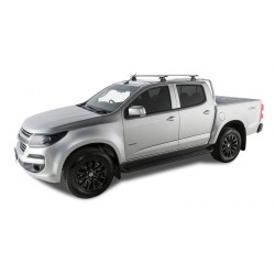 Rhino Rack - Silver Vortex Roof Racks - HOLDEN Colorado Crew Cab 06/12 On