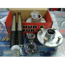 HUB & STUB SET 4X100 X 7/16 160HUB 39MM