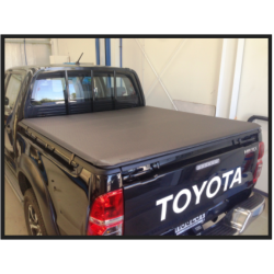 Toyota Hilux Double Cab - Roll Up Tonneau Cover (J Deck) 2005 to 2015