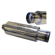 """MUFFLER WITH /SILENCER 3.0"""" - STAINLESS"""