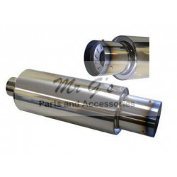 "MUFFLER WITH /SILENCER 2.5"" N1 STYLE - STAINLESS"