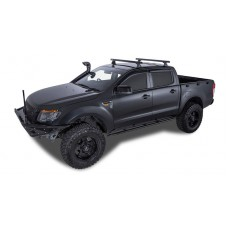 Heavy Duty RLT600 Trackmount Black 2 Bar Roof Rack