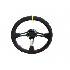 STEERING WHEEL DEEP DISH 320MM SUEDE
