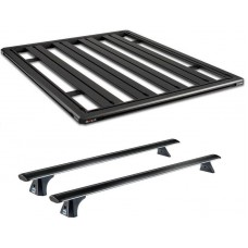 Titan Tray - By ROLA - 1.2m x 1.2m with CRUZ Airo Dark Racks - Navara 2015 ->