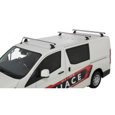 Rhino Rack - 3 x Silver Heavy Duty Roof Rack - Toyota Hiace 2019on
