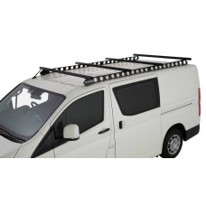 ROOF RACKS FOR TOYOTA HIACE (ZR) 4 X RHINO RACK HEAVY DUTY BLACK WITH BACKBONE