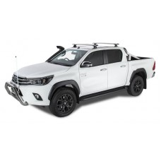 Rhino Rack - 2 Silver Vortex Bars - for Toyota Hilux 2015 on - Trackmount
